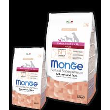 Monge Extra Small Adult Salmon для взрослых собак миниатюрных пород с лососем 2.5кг