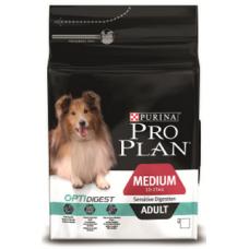 Pro Plan Medium Adult Sensitive Digestion для взрослых собак средних пород с чувствительным пищеварением с ягненком 3кг