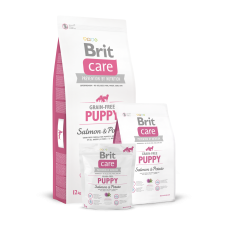 Brit Care Grain-free Puppy Salmon & Potato беззерновой для щенков всех пород с лососем (1кг, 3кг, 12кг)