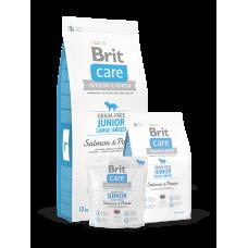 Brit Care Grain-free Junior Large Breed Salmon & Potato беззерновой для щенков крупных пород с лососем (3кг, 12кг)