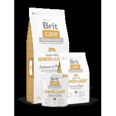Brit Care Grain-free Senior&Light Salmon & Potato беззерновой для пожилых собак всех пород с лососем (3кг, 12кг)