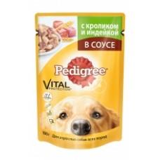 Pedigree Для взрослых собак всех пород с кроликом и индейкой (100г)