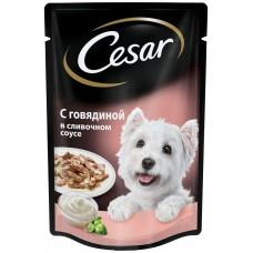Cezar Для взрослых собак всех пород С Говядиной в сливочном соусе (100г)