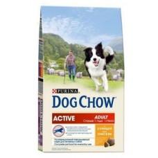 Dog Chow Adult Active Chicken для взрослых активных собак с курицей 14кг
