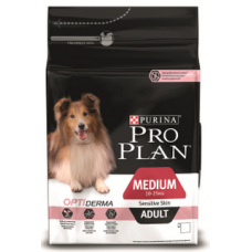 Pro Plan Medium Adult Sensitive Skin для взрослых собак средних пород с чувствительной кожей с лососем 14кг