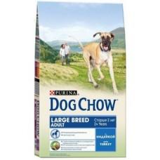 Dog Chow Adult Large Breed Turkey для взрослых собак крупных пород с индейкой