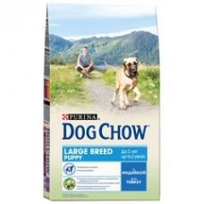 Dog Chow Large Breed Puppy Turkey для щенков крупных пород с индейкой 2.5кг