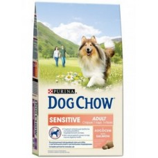 Dog Chow Sensitive Adult Salmon для собак с чувствительным пищеварением с лососем