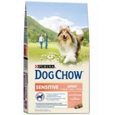 Dog Chow Sensitive Adult Salmon для собак с чувствительным пищеварением с лососем 2.5кг