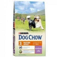 Dog Chow Mature Adult Lamb для собак старше 5 лет с ягненком