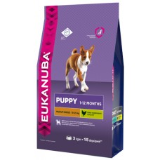 Eukanuba Dog Puppy medium breed для щенков средних пород 3кг