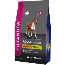 Eukanuba Dog Adult medium breed для собак средних пород 3кг