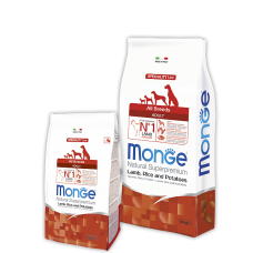 Monge All Breeds Adult Lamb для собак всех пород с ягненком 2.5кг