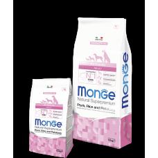 Monge Pork Корм со свининой, рисом и картофелем для взрослых собак всех пород