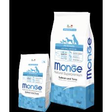 Monge All Breeds Adult Salmon & Tuna для собак всех пород с лососем и тунцом гипоаллергенный 2.5кг