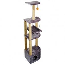 Дарэлл дом-когтеточка 4х уровневый угловой с гамаком