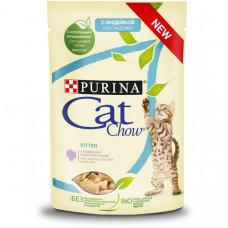 Cat Chow для котят с индейкой и кабачками в желе 85 г