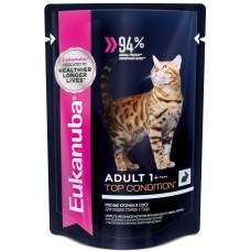 Eukanuba Adult Rabbit для взрослых кошек с кроликом в соусе 85г