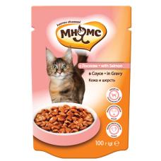 Мнямс With Salmon для кошек с лососем в соусе (100г)