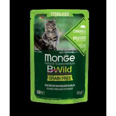 Monge Cat BWild Grain Free Паучи для взрослых кошек 85г
