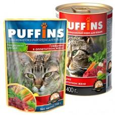 PUFFINS кусочки мяса в желе (100г)