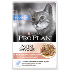 Pro Plan Housecat для домашних кошек с лососем в соусе 85г