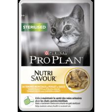 Pro Plan Sterilised для стерилизованных кошек с курицей в соусе 85г