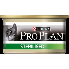 Pro Plan Sterilised для стерилизованных кошек паштет с тунцом (85г)