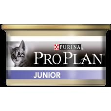 Pro Plan Junior для котят мусс с курицей (85г)