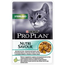 Pro Plan Sterilised для стерилизованных кошек с океанической рыбой в желе 85г