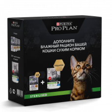 Промо-набор Pro Plan для стерилизованных кошек 4х85г +200г