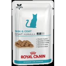 Royal Canin SKIN & COAT FORMULA для кастрированных и стерилизованных котов и кошек с повышенной чувствительностью кожи 85г