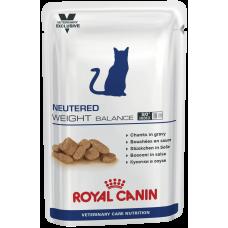 Royal Canin NEUTERED WEIGHT BALANCE для кастрированных стерилизованных котов и кошек, склонных к избыточному весу 100г