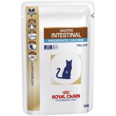 Royal Canin GASTRO INTESTINAL MODERATE CALORIE при нарушении пищеварения низкокалорийный 100г