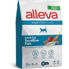 Alleva cat Equilibrium Sensitive корм для взрослых кошек с рыбой