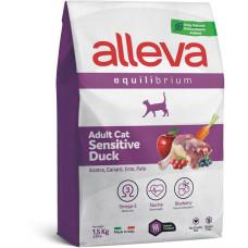 Alleva cat Equilibrium Sensitive корм для взрослых кошек с уткой