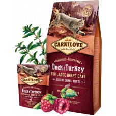 Carnilove Duck & Turkey for large breed cats 400г