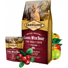 Carnilove Lamb & Wild Boar for sterilised cats 400г