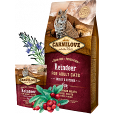 Carnilove Reindeer for adult cats with access to outdoors 400г