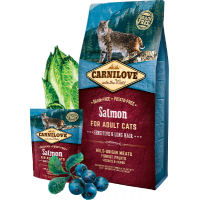 Carnilove Salmon for adult cats with sensitive digestion, long-haired 400г