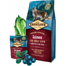 Carnilove Salmon for adult cats with sensitive digestion, long-haired