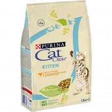Cat Chow Kitten для котят с курицей