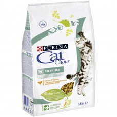 Cat Chow Sterilised для стерилизованных кошек с домашней птицей 400г
