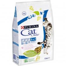 Cat Chow 3in1 формула тройного действия с индейкой