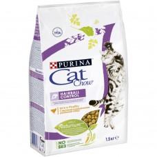 Cat Chow Hairball контроль образования комков шерсти с домашней птицей 1.5кг