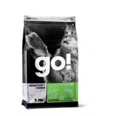 GO! SENSITIVITY + SHINE Беззерновой для Котят и Кошек с Чувств.пищеварением: Форель, Лосось 1.82кг