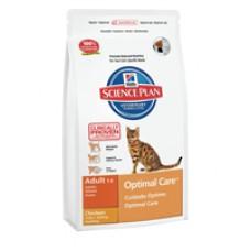 Hills Adult Optimal Care для взрослых кошек с курицей (400г, 2кг, 5кг, 10кг, 15кг)