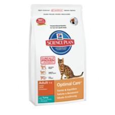 Hills Adult Optimal Care для взрослых кошек с тунцом (400г, 2кг, 10кг)