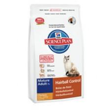 Hills Mature Adult 7+ Hairball Control Chicken контролирует образование волосяных комочков у кошек старше 7 лет (1.5кг)