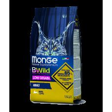 MONGE CAT BWILD LOW GRAIN ADULT HARE низкозерновой корм из мяса зайца для взрослых кошек